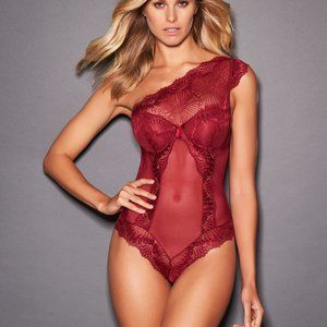 Frederick's of Hollywood Leia Scalloped Lace Teddy